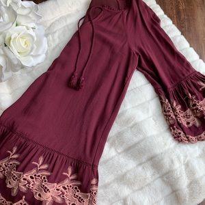 Forever 21 Bell Sleeve Mini Dress